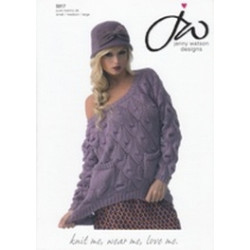 Ladies Pure Merino Sweater DK Pattern 5017 Small/Medium/Large