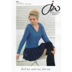 Ladies Pure Merino DK Hooded Sweater Pattern 5024