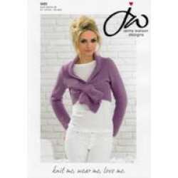 Ladies Pure Merino DK Sideways Short Cardigan Pattern 5025