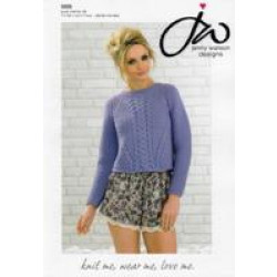 Ladies Pure Merino DK Sweater Pattern 5026