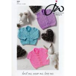 4ply Baby Cardigans and Waistcoat Pattern 5035 (Prem - 2)