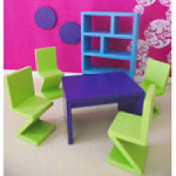Dolls House Emporium - 1:12 Funky Dining Room Set 5348