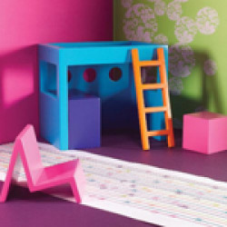 Dolls House Emporium - 1:12 Funky Kids Bedroom Set 5351