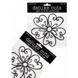 Delux Designs - Deluxe Cuts - Flower-Whimsical - Black