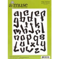 A Muse Clear Stamps - Lowercase Graffiti Letters