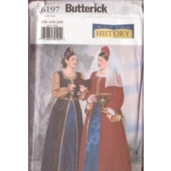 Butterick Pattern - Women's Costume - Sizes 28-32 - 6197C
