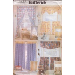 Butterick Pattern - Reversible Window Treatments - One Size - 6245