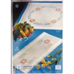 Permin of Copenhagen - Printed Table Runner - Summer Scroll