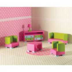 Dolls House Emporium - 6492 Rainbow Living Room Set