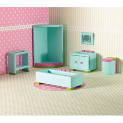 Dolls House Emporium - 6494 Rainbow Bathroom Set