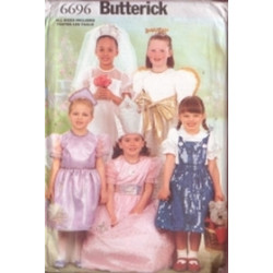 Butterick Pattern - Child's Dress - All Sizes Included - 6696