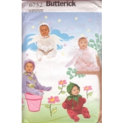 Butterick Pattern - Infants' Costume - Sizes S-XL (Weight 13-29lbs) - 6752