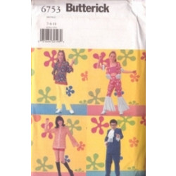 Butterick Pattern - Girl's/Boy's Costume - Sizes 7-10 - 6753A
