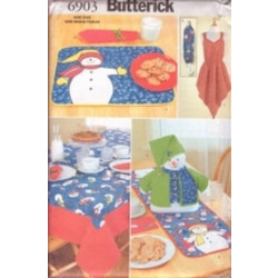 Butterick Pattern - Snowman Table Top - One Size - 6903