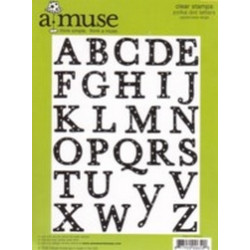 A Muse Clear Stamps - Uppercase Polka Dot Letters (Large)