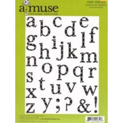 A Muse Clear Stamps - Lowercase Polka Dot Letters (Large)