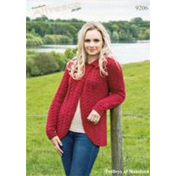 Freedom Alfresco Aran - Ladies Jacket Pattern 9206 81-107cm