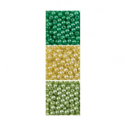 Imitation Pearls Trio - Yellow and Greens