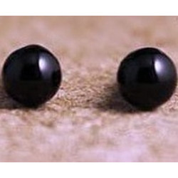 Toy Saftey Eyes Black Bead (Flat Backed) (1 Pair)