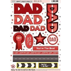 Craft Creations Creative Die-Cuts - Dad - Reds