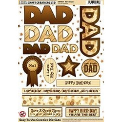 Craft Creations Creative Die-Cuts - Dad - Browns
