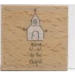 Katie & Co-Wooden Stamp-Going to the Chapel