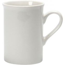 Porcelain Mug for Decorating, White, H10xD6,9-7,4 cm (55597)
