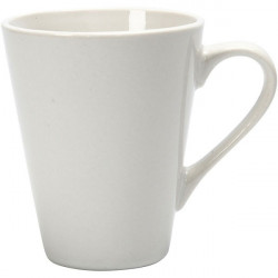 Porcelain Mug for Decorating, White, H10 x D5-8 cm (55598)