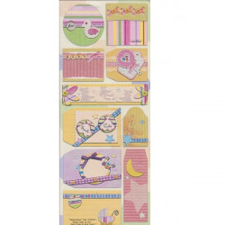 Embossed - Stickers - Tags - Baby Girl