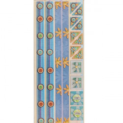 Embossed - Stickers - Borders & Photo Corners - Blue Buttons