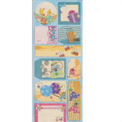 Embossed - Stickers - Tags - Birthday Pinks