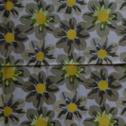 Fat Quarter - Big Flowers - Yellows