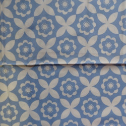 Fat Quarter - Big Flowers - Blue