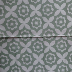 Fat Quarter - Big Flowers - Green