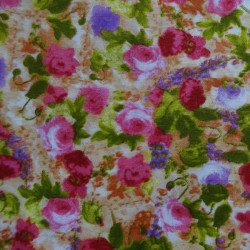 Fat Quarter - Small Flowers - Pinks and Greens