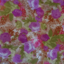 Fat Quarter - Small Flowers - Violets and Greens