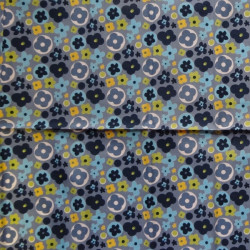 Fat Quarter - Small Flowers - Blues