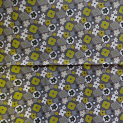 Fat Quarter - Small Flowers - Browns