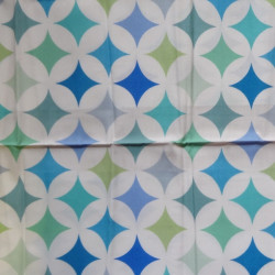 Fat Quarter - Stars - Blues and Greens