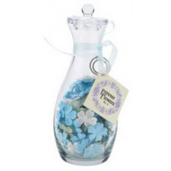 Forever Flowers No. 4 - Bottle of Small Blue - White and Green Flowers