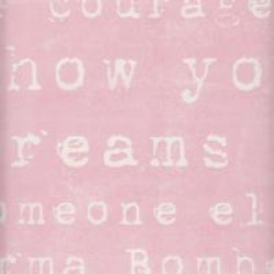 Gin-X - Heavy Weight Scrapbook Paper - She Wears Pink - Courage for Andie