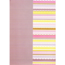 "Ki Memories - Double Sided Scrapbook Paper - 12x12"" - It's A Girl - Bedding"