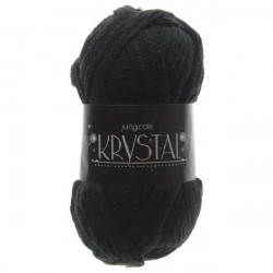 King Cole Krystal Scarf Yarn 100g Ball - Black 393
