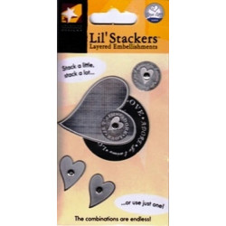 American Traditional Designs - Lil' Stackers - Heart Stacker - Silver