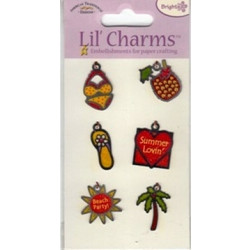 American Traditional Designs - Lil' Charms - Beach Babe - Set of 6