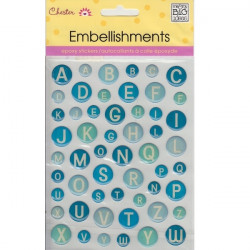 Me and my Big Ideas - Epoxy Stickers - Blue Circle Alphabet