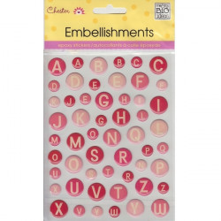 Me and my Big Ideas - Epoxy Stickers - Pink Circle Alphabet