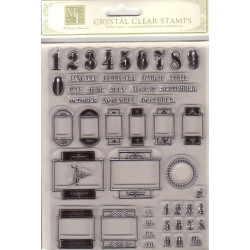 Melissa Frances Crystal Clear Stamps - Numbers & Dates