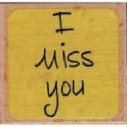 Katie & Co-Wooden Stamp-I miss you