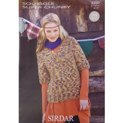 Sirdar Squiggle Super Chunky Ladies Sweaters Pattern 9360